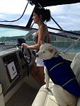 M and Romo-Dog at the helm