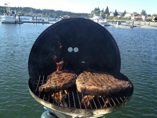 Mmmm...steak, Aurora style.