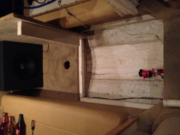 3.Aft Berth floor removed for access