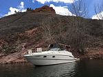 2000 Maxum 2700-SCR with full camper and 6' extended swim deck.  At Horsetooth Reservoir, Fort Collins, Colorado in April-2016!  Yes April :)