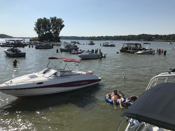 Party at the sand bar!