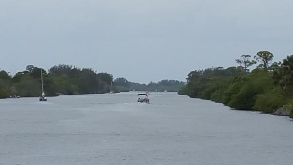 The Barge Canal goes across Merrit Island, connecting the Indian and Banana Rivers