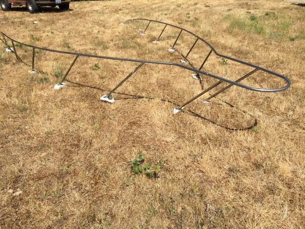 Complete boat railing (3 parts)
